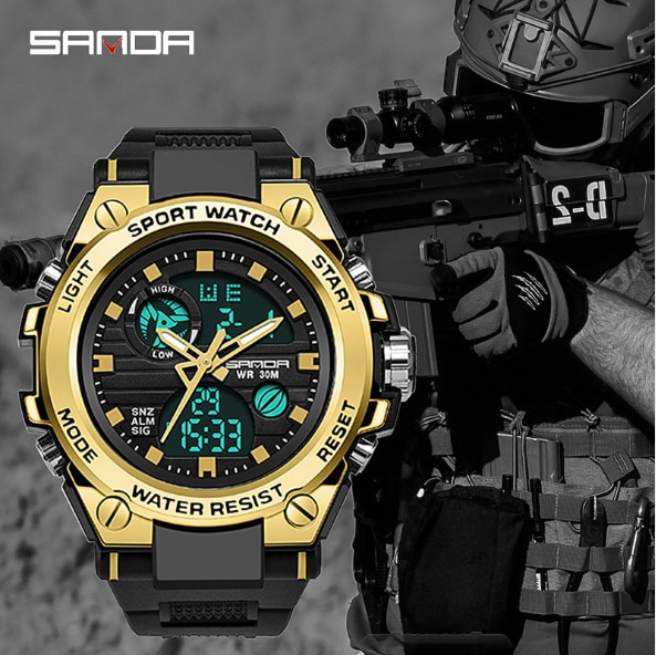 trend multi function military watch special forces watch men39s double 8 Aysim