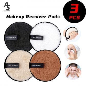 1/3pcs Makeup Remover Pads Cosmetics Reusable Face Towel Make-up Wipes Cloth Washable...