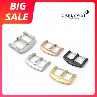 CARLYWET 18 20 22 24mm New Top Quality 316L Stainless Steel Brushed...