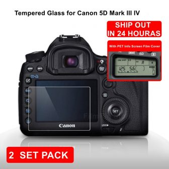 for Canon EOS 5D MARK III IV 5D3 Camera Tempered Protective Self-adhesive...