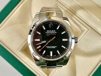 Rolex Milgauss 116400 S/Steel Clear Crystal Black Dial- c.2010 -Box/Papers-